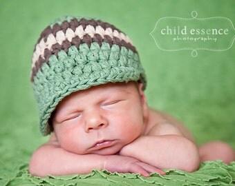 Baby Boy Hat 0 to 3 Month Baby Boy Beanie Baby Boy Cap Baby Boy Clothes Olive Green Baby Hat Brown Khaki Photo Prop Baby Shower Gift