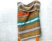 vintage tribal blanket beach blanket picnic native american