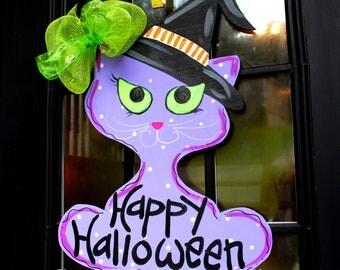 Door Hanger: Halloween, Outdoor Decoration, Witch Door Hanger, Halloween Decor