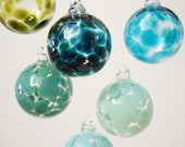 blown glass christmas tree ornaments by CorrinaFieldHandmade on etsy