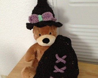 witch hat and cape