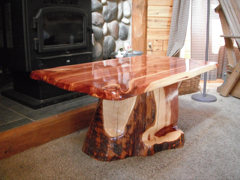 Red cedar coffee table