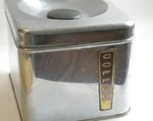 Vintage Stainless Coffee Canister