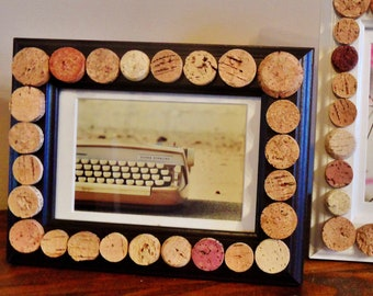 Black Wine Cork Picture Frame