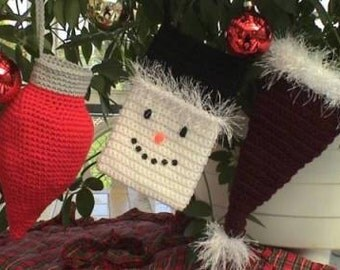 Stocking Set Crochet Pattern Christmas/Holiday Petite