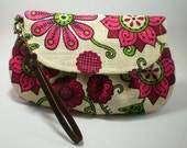 iPhone 5, iPod, blackberry, cell Phone, wristlet, purse, Pouch, Camera Bag ,Cosmetic Bag .