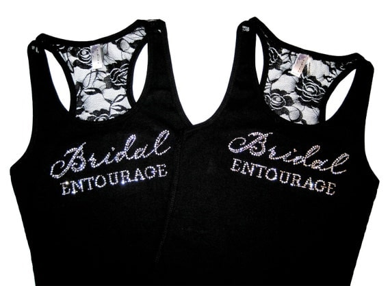 2  Bridesmaid Tanks- Bachelorette Party Shirts, Bridesmaid Shirts, Bride Tribe, Bridal Entourage, Bridesmaid Tank Tops, Team Bride Shirts