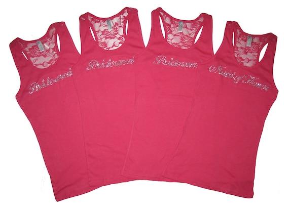 4 Bridesmaid Tank Top Shirts. Bride Tank Top Shirt. Will You Be My Bridesmaid. Bridesmaid Gifts. Maid of Honor Gift. Wedding Party Clothes.