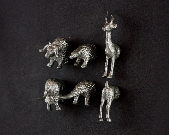 Crazy Animal WEDDING Magnets - Silver Armadillo Muskox Antelope (Musk Ox) - Perfect for wedding favors