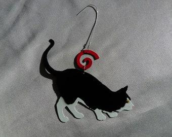 Metal Black Cat Ornament