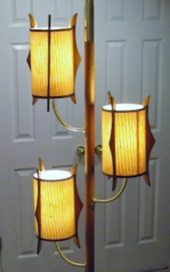 Reserved For Kara Tension Pole Three Light Floor Lamp