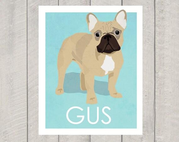 French Bulldog Art Print - Custom Dog Art