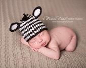 baby boy hat-zebra hat-crochet hat-newborn photography-photo prop
