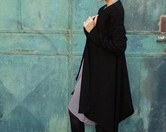 Long Sleeves Cardigan- Black cardigan- Women's coat- black cardigan