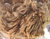 Suri Alpaca Fiber, Medium Brown with Highlights, 7 ounces
