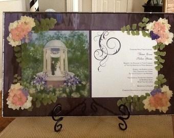 Custom made Stained Glass Keepsake frame