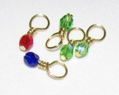 Eight (8) Colored Bead Charms - Add-On for Charm Necklaces, Etc. - FREE SHIPPING