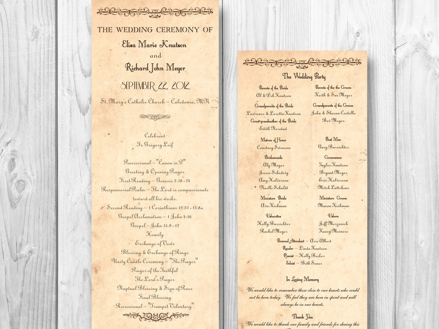 Wedding program order militaryalicious rustic wedding program country order of by designedwithamore junglespirit Choice Image