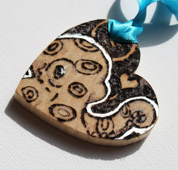 Pyrography -  Octopus Love Token