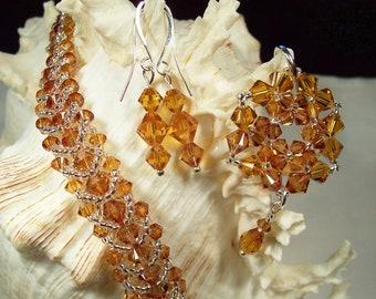Topaz Swarovski Crystal Bracelet Set