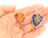 Reserved For Bonnie: Little Hot Air Balloon Beaded Earrings