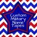 Custom Military Name Tapes