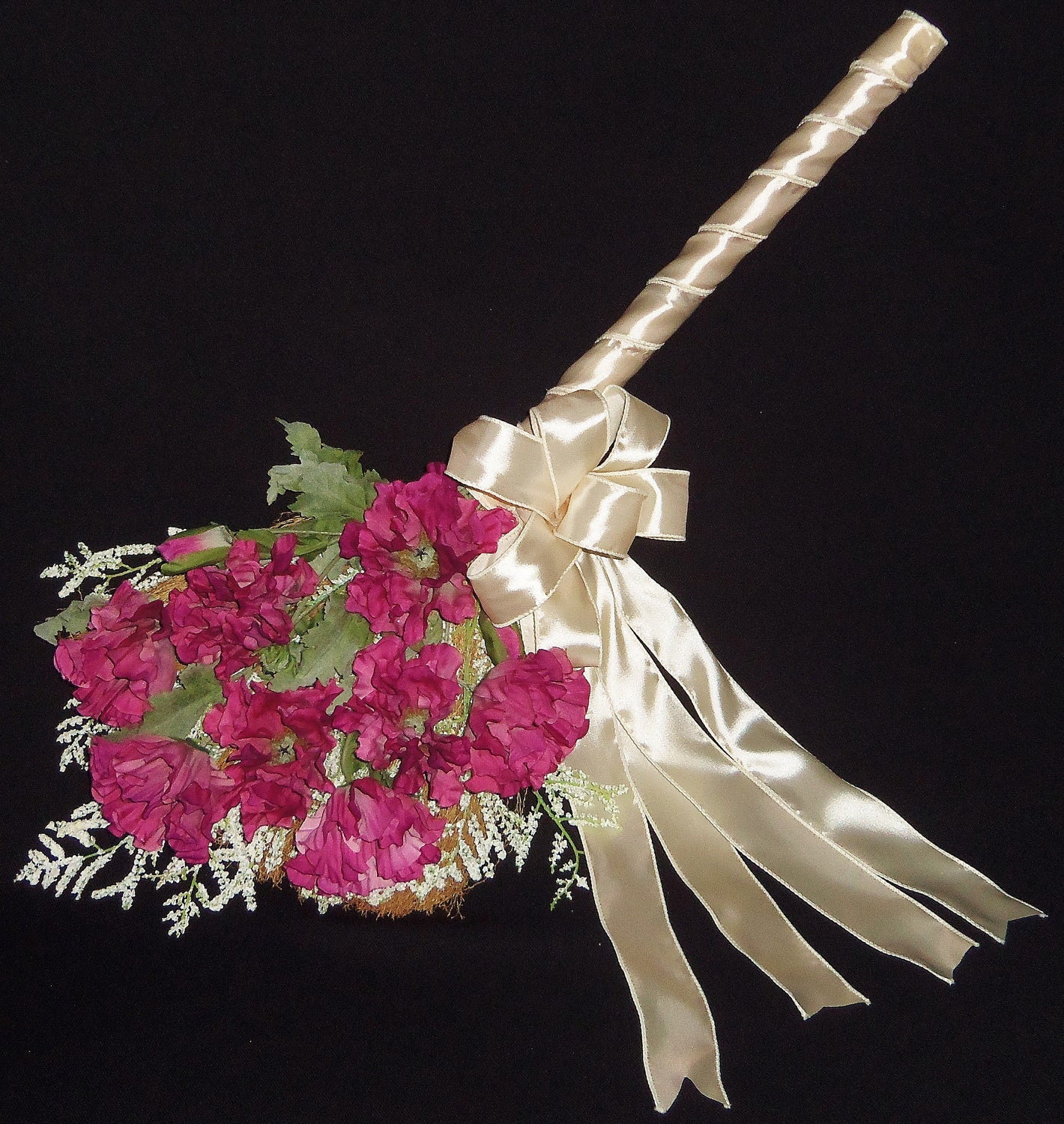 reserved for lorrie wedding jumping broom mauve oriental