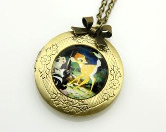 Necklace locket bambi 2020m