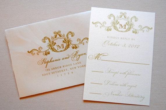 Ivory Wedding Invitations: Wedding Invitations Ivory Wedding Invitation Vintage Wedding