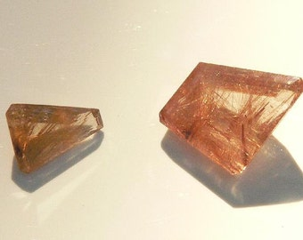 Rutilated Quartz - Parallelogram Shape - Venus Hairstone - Golden Rutile