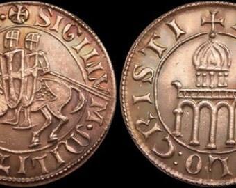 Knights Templar Denarius token copper