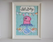 Personalized kitchen art - Custom order for Katie