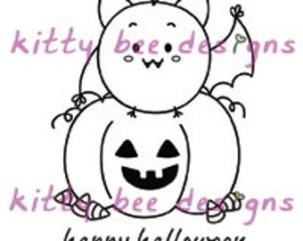 Halloween Mr. Bitty  Digi Stamp