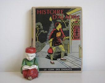 Histoire D'Aladin Et Sinbad Le Marin Le Coin Des Enfants Adaptation de Theo Varlet 1939 Antique French Language Aladdin Story Book