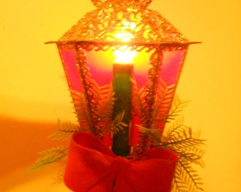 Vintage Electrified Christmas Lantern