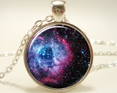 Rosette Nebula Necklace, Galaxy Jewelry, Universe Pendant (1165S1IN)