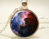 Carina Nebula Galaxy Necklace, Space Jewelry Art Pendant (1168S1IN)