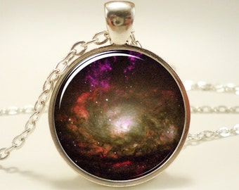 Galaxy Necklace, Heavenly Nebula Pendant, Stars And Universe Jewelry (1340S1IN)