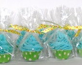 FREE SHIPPING, 40 Moisturizing Mini Bath Bomb Cupcakes with Soapy Frosting, 2oz each