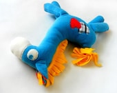 Stuffed Animal Soft Blue Horse Sweet and soft chidren toy for baby