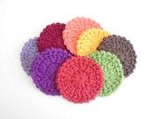 Crochet Coasters - Cotton Coasters - Coaster Set - Set of Eight