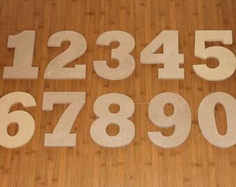 "8"" Wooden Numbers - Unpainted"