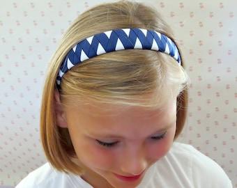 Woven Headband, Navy Blue and White Headband, Toddler Headbands, Girls Headbands, Womens Headband, Adult Headband, Woven Headbands, Headband