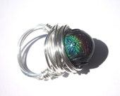 Mood Ring, Color Changing Ring, Wire Wrapped, Designer Inspired, Retro Ring, Summer Jewelry