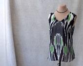 Ikat Top, Silk Chiffon, size S-M, Sample Sale