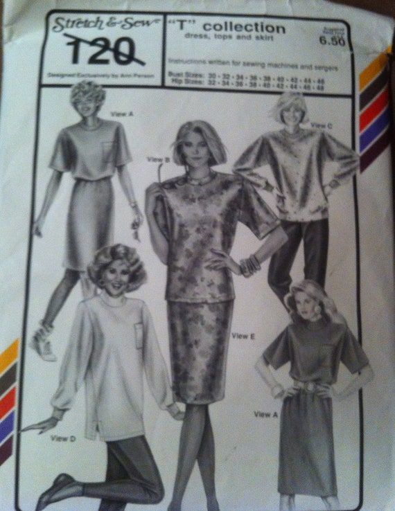 Stretch & Sew number 120 T Collection Pattern 1991