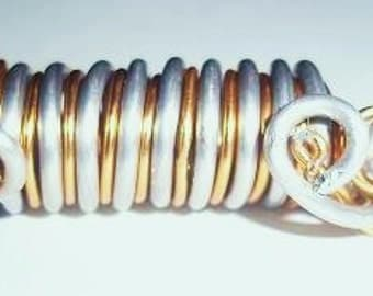 Locs jewelry gold and silver
