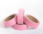 Pink Hearts Tape Scrapbooking Deco Tape Japanese