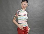 Rainbow Stripe Knit Tank
