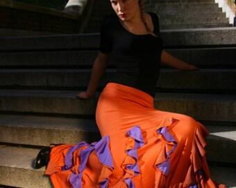 Flamenco Skirt 09 Red - Violet